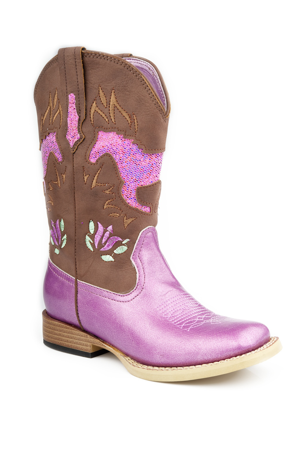 Pink Cowgirl Boots For Girls - Cr Boot