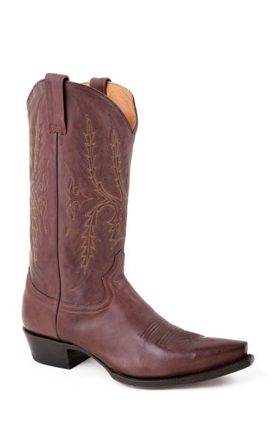 nib stetson mens cowboy boots brown leather western